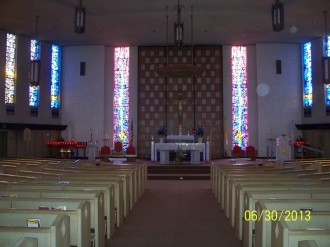 Photo of the sanctuary in empty church